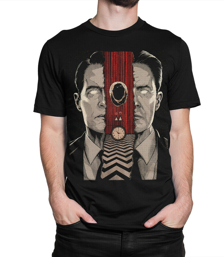 Twin Peaks Original Art T-Shirt, Agent Dale Cooper Tee Mans Unique Cotton Short Sleeves O-Neck T Shirt T Shirt Casual O-Neck