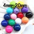 Envío Libre! Mixta Chunky Beads gumball 20mm Loose Navidad Chunky Acrílico Perlas sólidas para Chunky Collar de La Joyería DIY