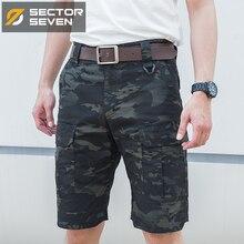 Setor sete 2020 novo verão dos homens camuflagem tático carga shorts casuais masculino silm trabalho shorts homem militar do exército calças curtas