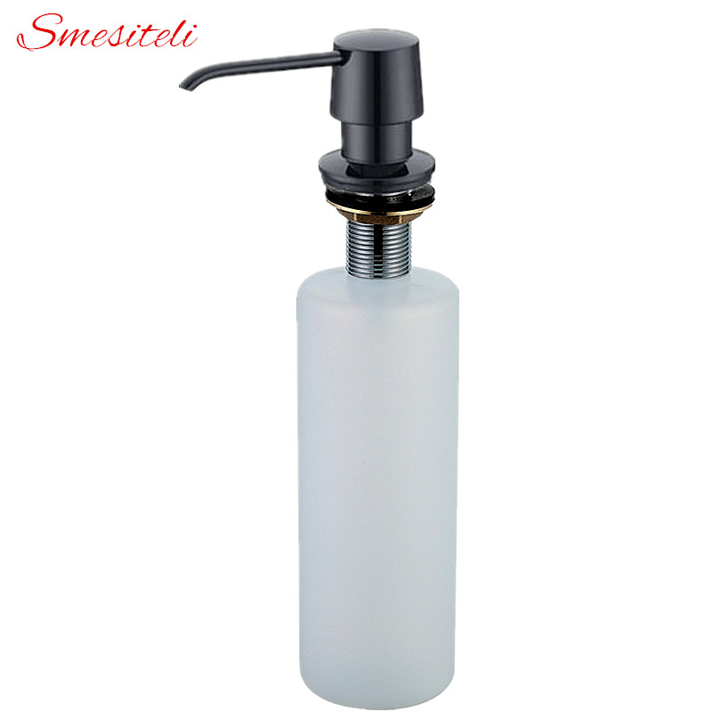 Bathroom Fixtures Provided Smeslteli Design New Built In Solid Brass Kitchen Soap Dispenser Easy Installation Well Built And Black White Silver Sturdy Liquid Soap Dispensers