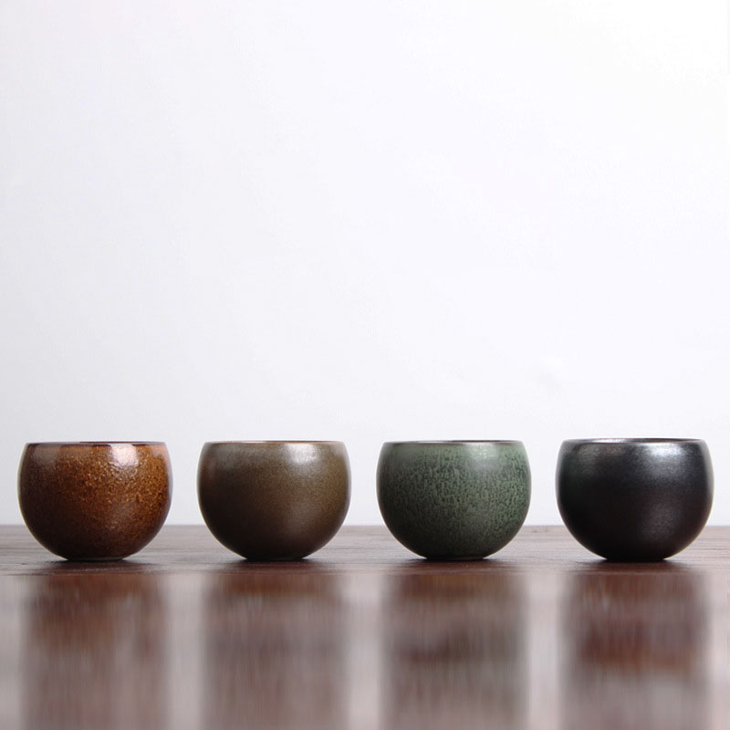 Jap Impor Black and Ivory Flared Ikebana Bowl Handmade Vintage Ceramic Vase
