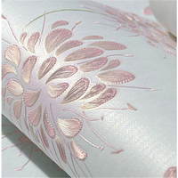 Beibehang 3d Non Woven Wallpaper Pastoral Dandelion Warm Romantic Wedding Room Living Room Bedroom Background Wallpaper