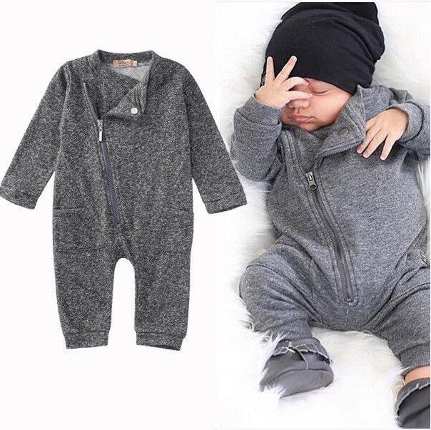 Newborn Kids Baby Boy Girls Clothes Infant Romper Jumpsuit Long Sleeve Gray Clothing Outfits Baby Boys newborn baby girl boy clothes rompers long sleeve cotton jumpsuit outfits infant kids boys girls costume pokemon pikachu child