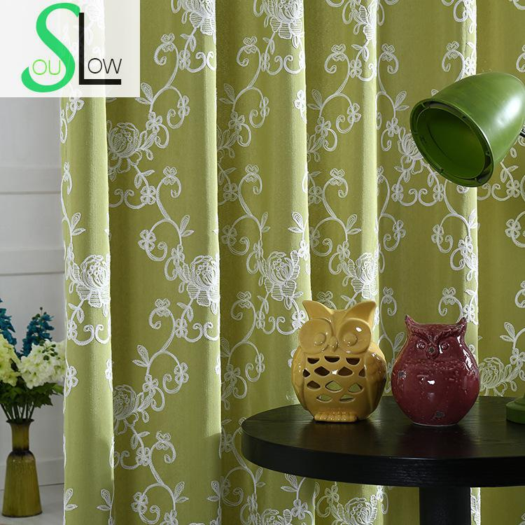 Blue Green Kitchen Curtains: Aliexpress.com : Buy Slow Soul Red Blue Green Embroidered