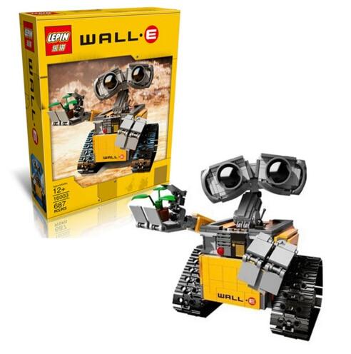 Promotion New font b Lepin b font 16003 687pcs Idea lovable robot WALL E Building Blocks