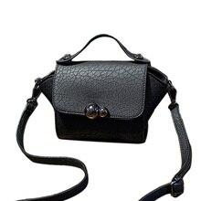 Fashion Women's Pu Leather Handbags Small Trapeze Bags Women Shoulder Bag Crocodile Girls Messenger Crossbody Bags With Logo