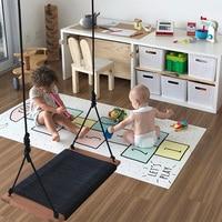 Baby Hopscotch Game Mat Kids Activity Play Gym Mats Children Infant Adventure Rug Crawling Mat Kids Room Floor Carpet Non Slip