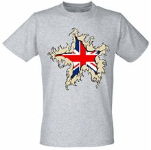 Tear off Chest Great British Union Flag GB Team Britain UK  Mens T shirt Funny Tops Tee New Unisex free shipping