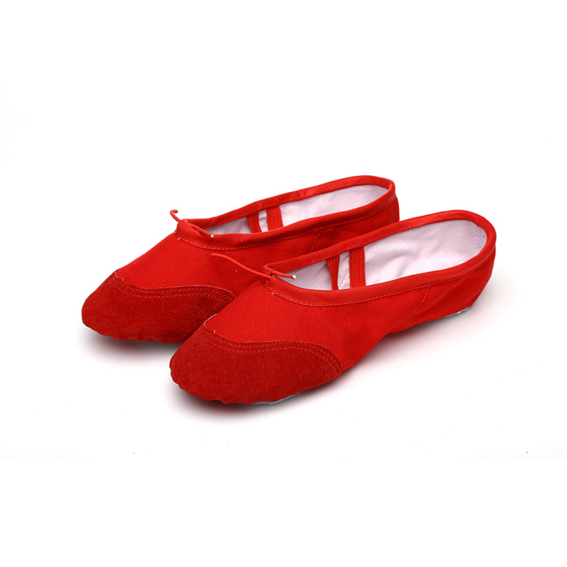 According The CM To Buy,Red Ballet Shoes For Girls Children Woman Yoga Slippers Practice Indoor Exercising Shoes Free Shipping