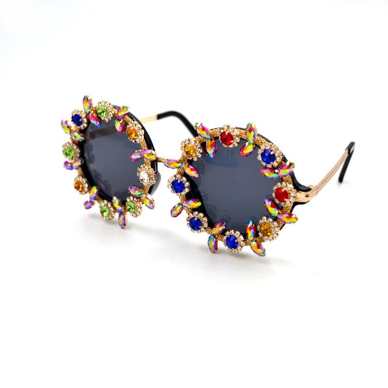 Classic Retro Round Rhinestone Flower Sunglasses Women Brand Designer Handmade Summer Luxury Crystal Ladies Sunglasses gafas A1|designer ladies sunglasses|ladies designer sunglassesladies sunglasses - AliExpress