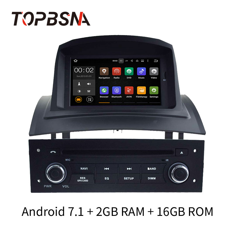 TOPBSNA 1 Din Android 7.1 Car DVD Player For Megane II 2002-2008 GPS Navi USB Mirror link Automotive AUX headunit WiFi Audio RDSTOPBSNA 1 Din Android 7.1 Car DVD Player For Megane II 2002-2008 GPS Navi USB Mirror link Automotive AUX headunit WiFi Audio RDS
