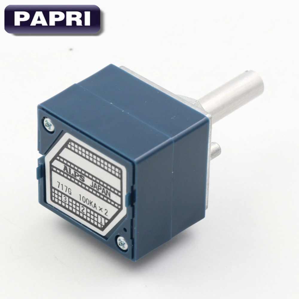 PAPRI 1 шт Япония ALPS RK27 Тип 2x10 K 50 K 100 K стерео регулятор громкости журнала для Hi-Fi аудиоусилитель, сделай сам, 6 мм круглый вал