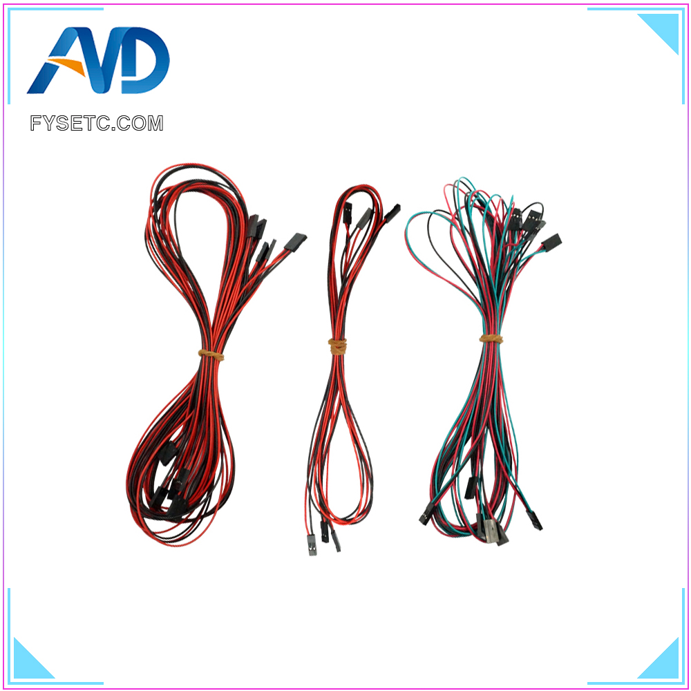 3D Printer 1lot/14pcs Complete Wiring Cables for 3D Printer RAMPS 1.4 Endstops Thermistors Motor3D Printer 1lot/14pcs Complete Wiring Cables for 3D Printer RAMPS 1.4 Endstops Thermistors Motor