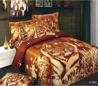 Горячий коричневый тигры животных 3d печатных постельные принадлежности полный королева размер утешитель устанавливает Египетского хлопк...