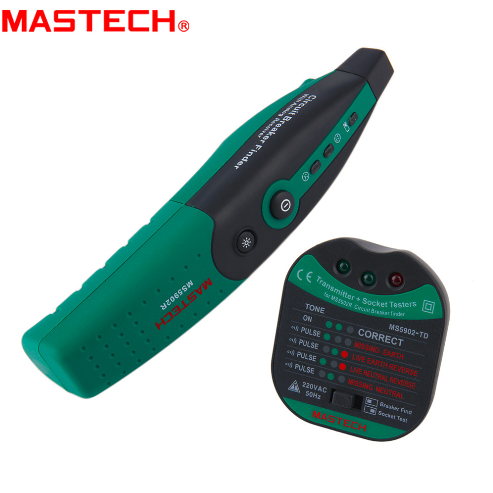 MASTECH <font><b>MS5902</b></font> Automatic Circuit finder switch socket fuse tester European Specification AC 220V / 110V with flashlight image