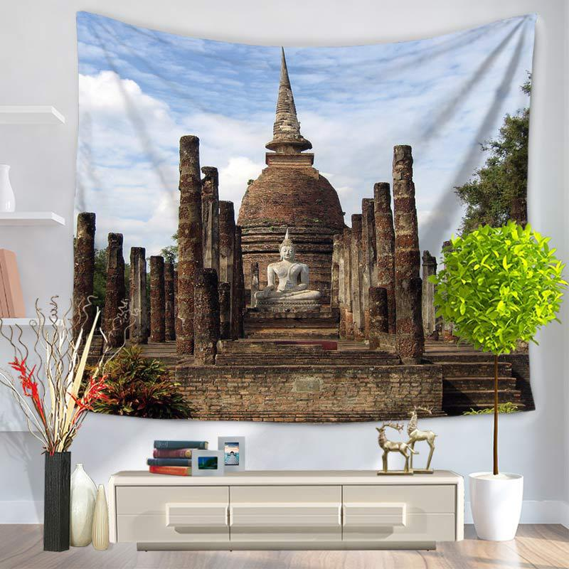 Buddha Creative Tapestry Beach Throw Mat Rug Wall Hanging Gobelini Room Tapestries Home Decor