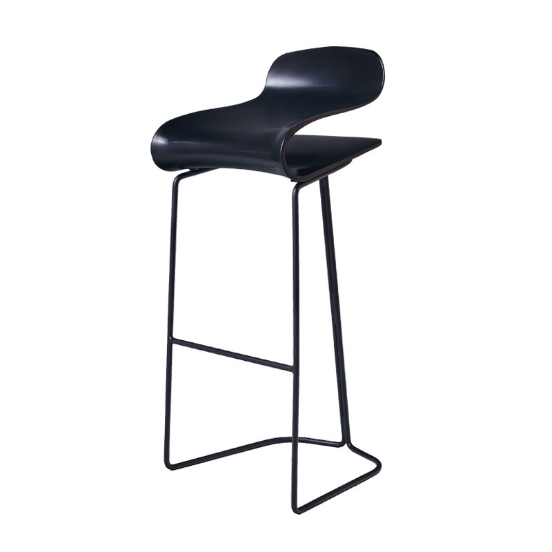 H 14%Modern Minimalist Bar Chair European Wrought Iron Bar Stool High Stool Bar Chair Front Bar Stool