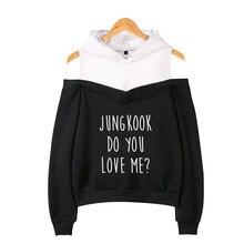 BTS Do You Love Me Off-shoulder Hoodie [All Members]
