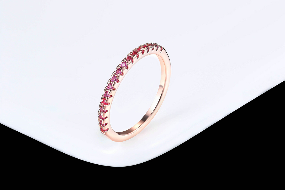 Wedding Ring For Women Man Concise Classical Multicolor Mini Cubic Zirconia Rose Gold Color Fashion Jewelry R132 R133 ZHOUYANG 12