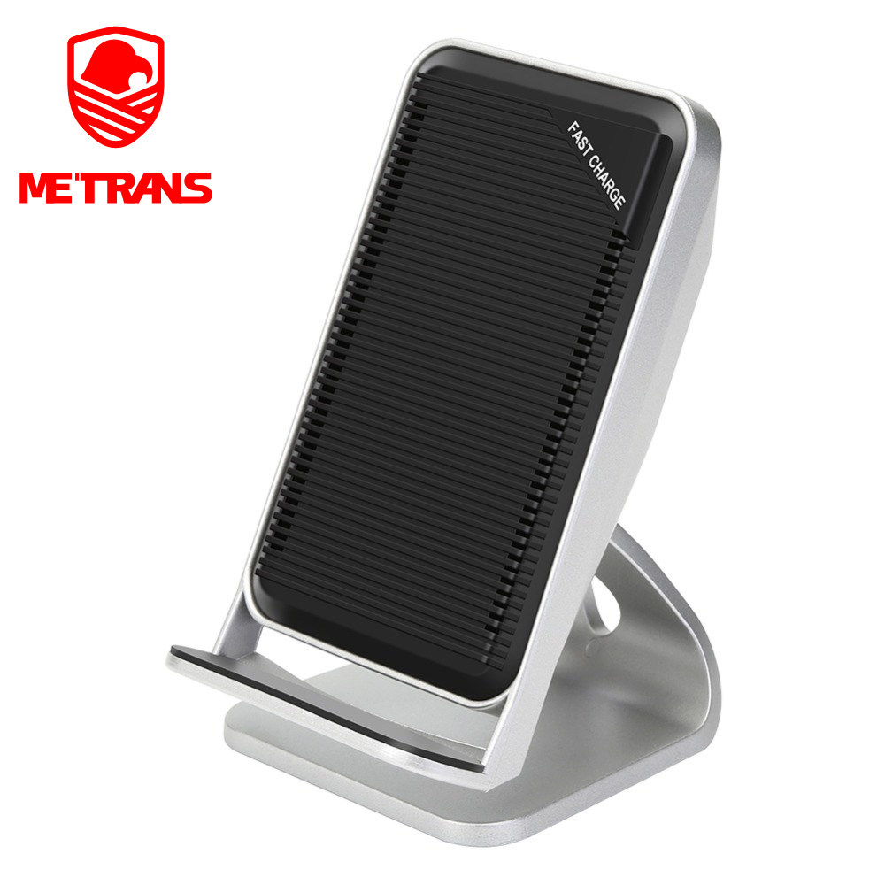 Metrans Qi Wireless Charger For iPhone XS Max XR X 8 Fan Cooling Fast Wireless Charging Stand For Samsung Galaxy S8 S9+ Note 9 8(China)