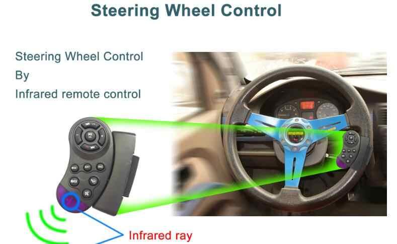 2 Din 7 ''polegada LCD Geral Tela de Toque Jogador Rádio Do Carro Áudio Do Carro Do Bluetooth Apoio Câmera de Visão Traseira + cobertura de volante