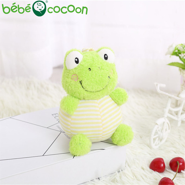 bebecocoon 1-3 Y Baby Rattle hand Bell Stuffed Toy Frogs Lion Bunny Elephant Animals Plush Toy Happy Toddler Gifts