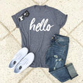 Vessos Women 2017 Top T-Shirt Tee Hello Letters Loose O Neck Harajuku Tumblr