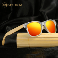 KITHDIA Wooden Sunglasses Unisex Bamboo Leg Sunglasses Brand Designer Mirror Original Polarized Clear Sunglasses With Package