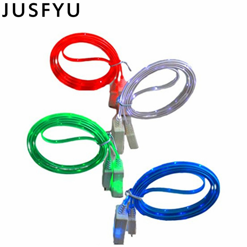 Glow LED USB Data Sync Charger Cable Charging For iPhone 5 6S 7 8 Plus XS