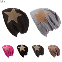 Вязаная Шапка Моды Милые Шляпа Большая Звезда Мужчины Женщины Хип-Хоп Головкой Рукав Шапка