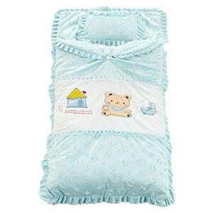 Image 3 - Herfst en Winter Baby Beddengoed Set Pasgeboren Wieg Beddengoed Katoen Dikker Dekbed Kids Kind Sleepping Tas voor 0 4 jaar oude baby