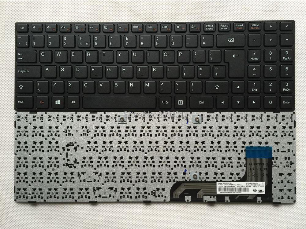 NEW Original For Lenovo 100-15IBY Laptop keyboard UK keyboard Version Black