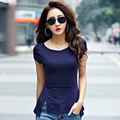 Sexy Slim Tshirt Cotton T Shirt Women Korean Clothes Summer 2017 O-Neck T-Shirt Female Womens Tops Short Sleeves Tee Shirt Femme