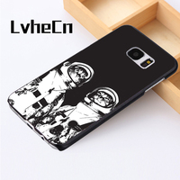 LvheCn phone case cover For Samsung Galaxy S3 S4 S5 mini S6 S7 S8 edge plus Note2 3 4 5 7 8 Cat Astronaut Kitten Abstract Art