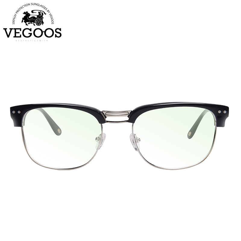 VEGOOS Nouvelle Prescription lunettes cadre oculos de grau cadre semi sans monture lunettes hommes monture de lunettes marque lunettes de myopie #5043