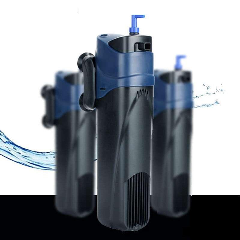 Stérilisateur UV pour Aquarium, pompe pour filtre à circulation d'eau + augmentation de l'air + lampe stérilisante UV + élimination des algues + désodorisant pour Aquarium