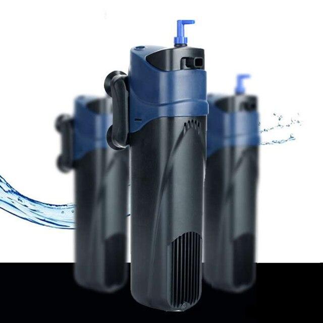 אקווריום UV מעקר, משאבת מסנן מים במחזור + אוויר להגדיל + UV לעקר מנורת + להסיר אצות + לרענן אוויר דגי טנק