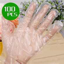 100pcs/pack Disposable Plastic Gloves Restaurant Kitchen Food Fruit Vegetable Dishwashing Catering Multi-purpose