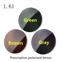 1.61 indice di Alta qualità occhiali da sole lenti polarizzate Grigio Verde Marrone 3 clolor Opzionale