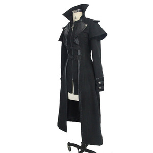 Image 5 - Devil Fashion Steampunk Autumn Winter Women Gothic Long Jacket Punk Black Long Sleeves Thick Coats Windbreakers Slim Overcoats