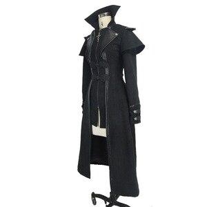 Image 5 - שטן אופנה Steampunk סתיו חורף נשים גותי ארוך מעיל פאנק שחור ארוך שרוולים עבה מעילי מעילי מעילי Slim