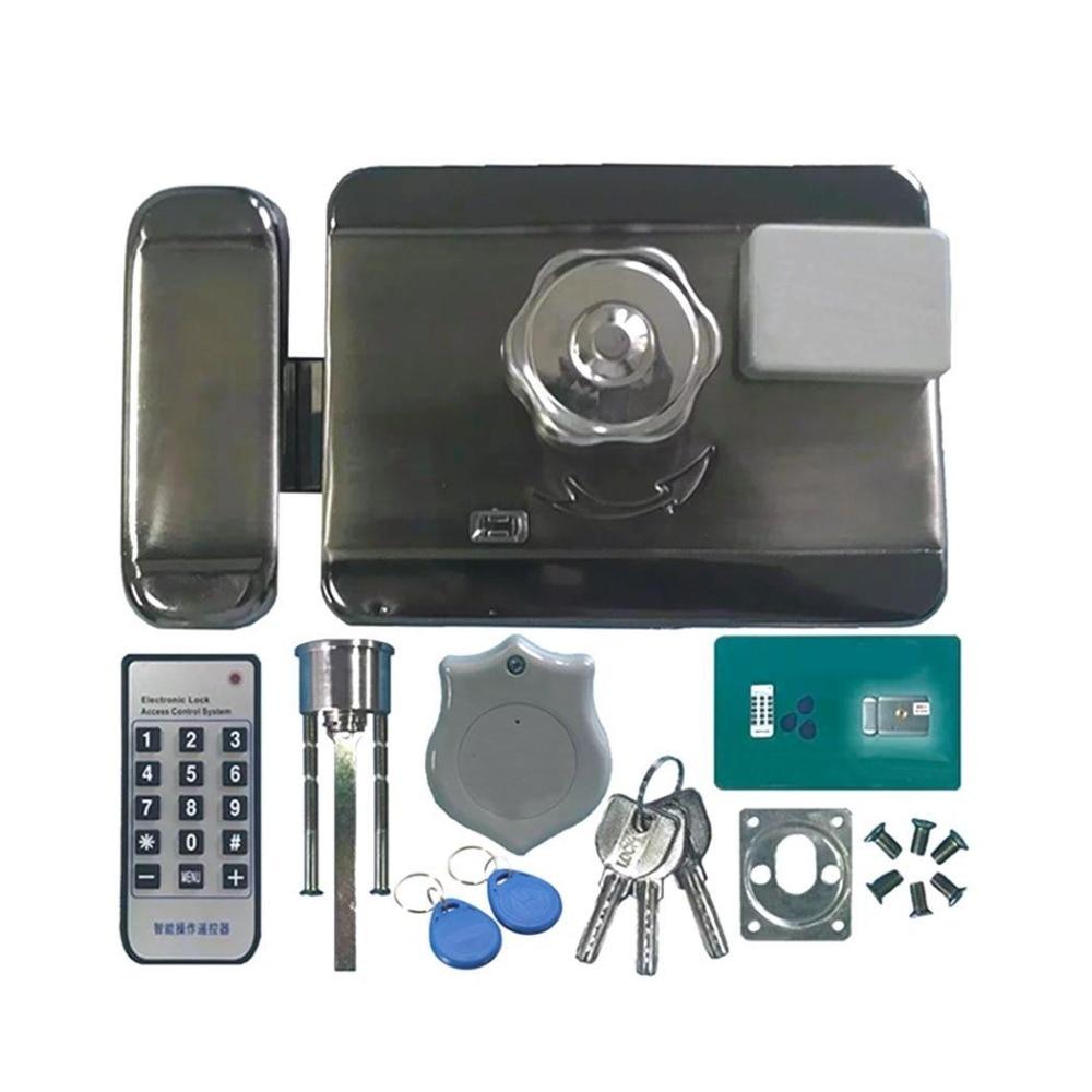 Электронная система контроля допуска к двери интегрированная RFID с ID 38mA считыватель Электрический одиночный двойной головкой ворота 12V Блок...
