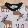 Christmas Deer Long Sleeve Romper