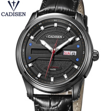 2017 Luxury Brand CADISEN Watch Men Sports Leather  Waterproof Mechanical Wristwatches Bright Hands Male Clock Relogio Masculino