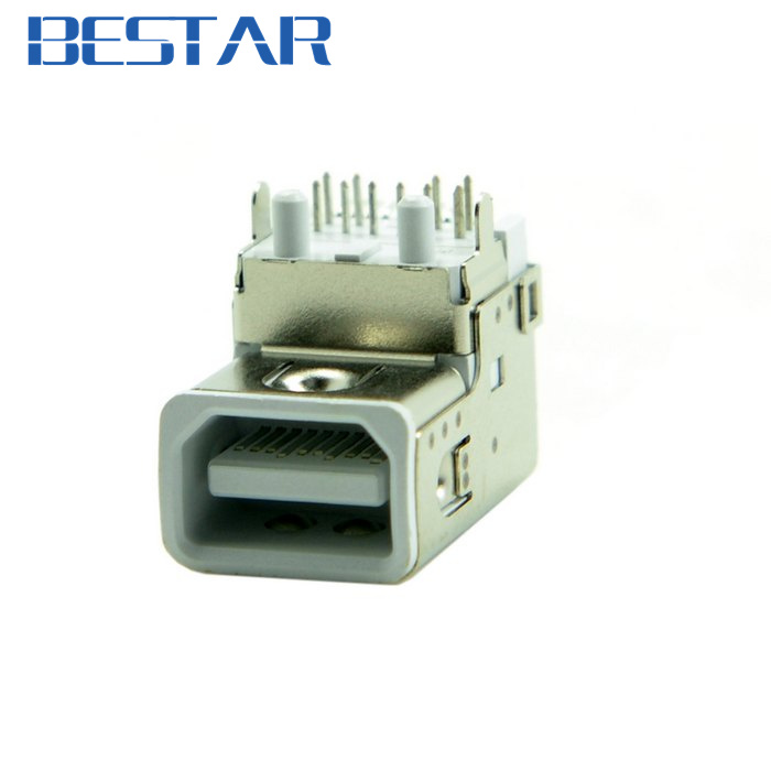 Mini Displayport Display port DP Female Socket Receptacle Connector Board Mount DIP SMT Type Molex 105115-0001 for Laptop 10pcs micro usb 2 0 connector b type 5pin smt female receptacle right angle bottom mount reflow solderable locators rohs new