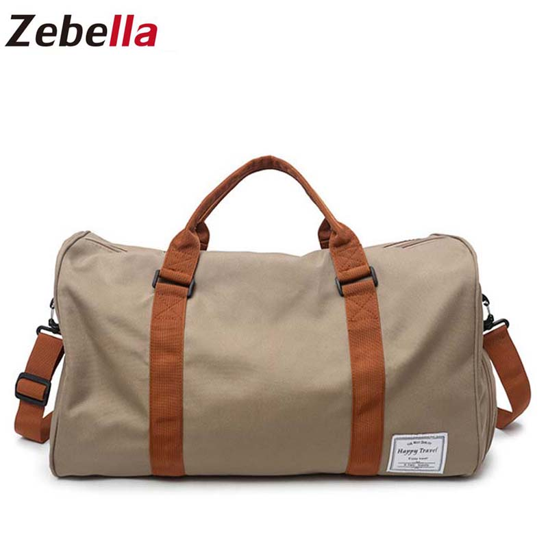 Zebella Men Travel Bags Water Resistent Carry on Luggage Shoulder Bags Large Capacity Men Duffel Bag Short Tour Weekend Bags
