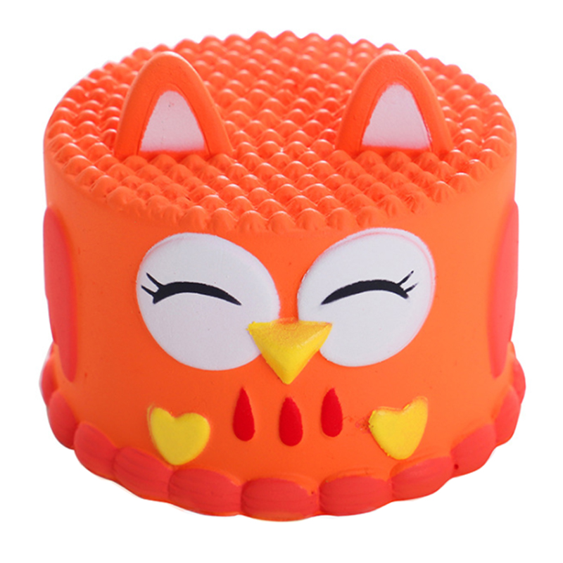 New Jumbo Cute Owl Cake Squishy Simulation Bread Cake Scented Slow Rising Squeeze Toy Stress Relief For Kid Xmas Gift 10*8.5