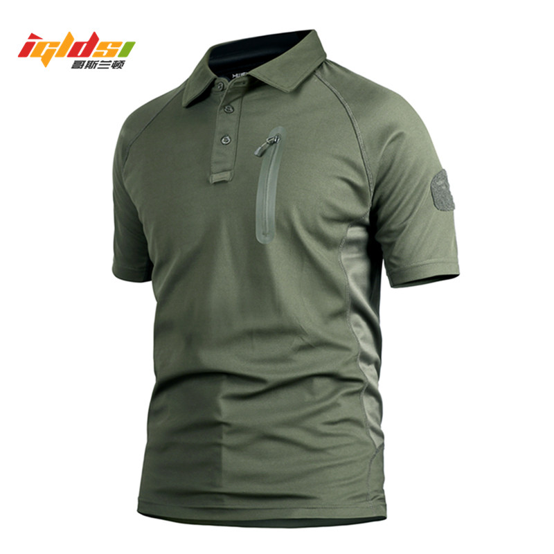 IGLDSI Men Tactical   Polo   Shirt New 2018 Breathable Perspiration Combat Army Quick Dry Men Top Military Camouflage   Polo   Shirts