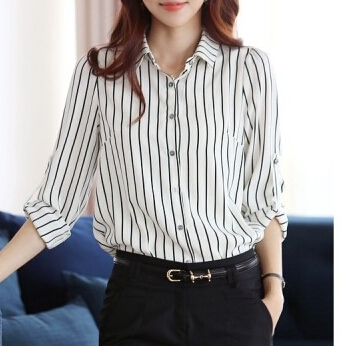 Aliexpress com   Buy Stripe Shirts Office Ladies Formal 05db7d0bb