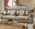Роскошный Старинный Кожаный Диван Для Гостиной, Мебель Для